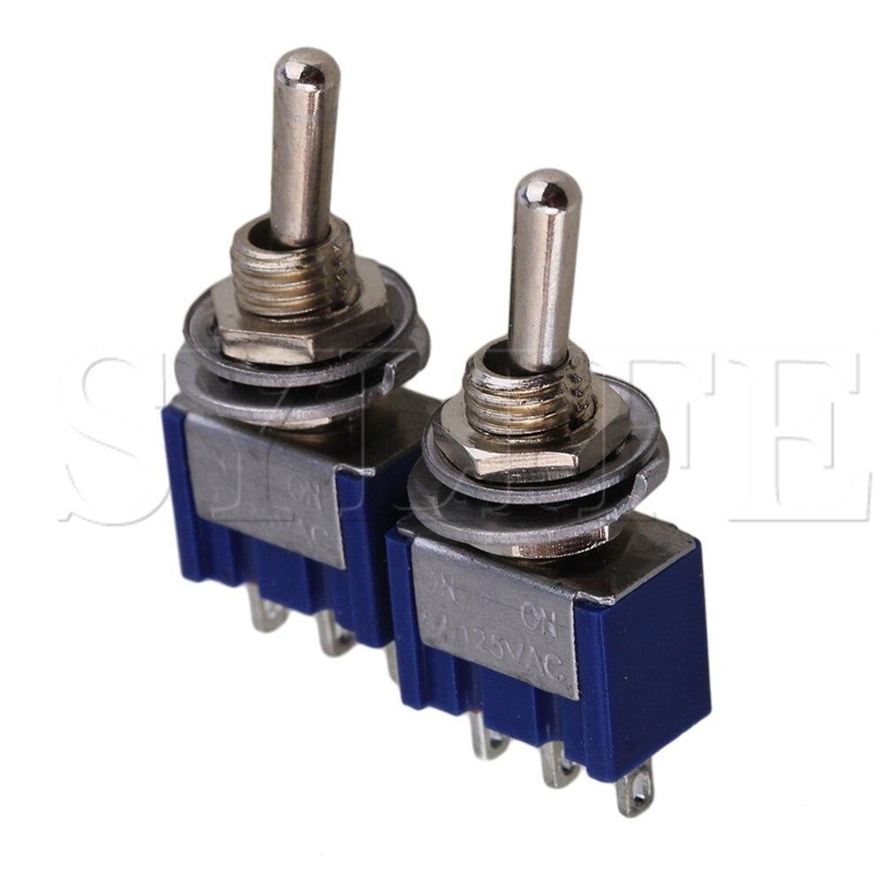 2 uds. Interruptor de conmutación Electirc azul, 2 posiciones, SPDT AC 125V...