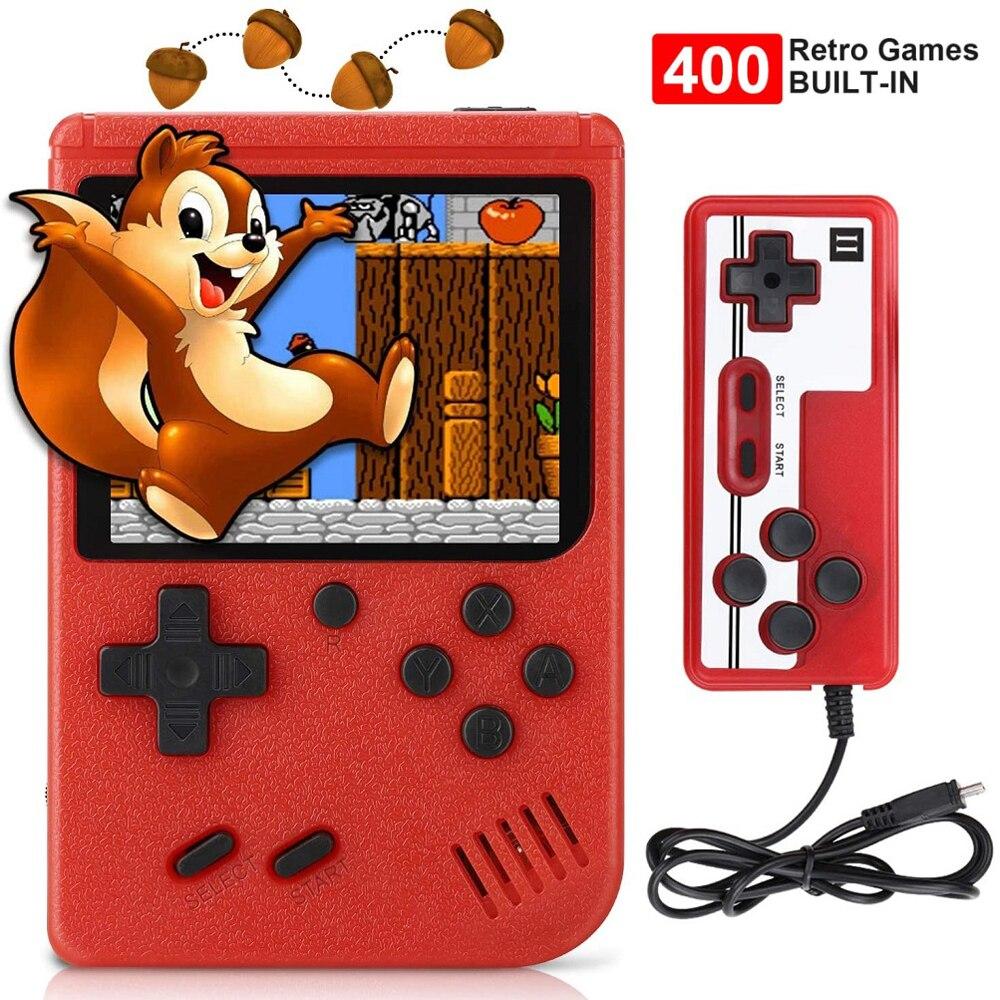 Новинка 2021, игровой плеер 400 в 1, портативная мини-консоль в стиле ретро, 8-битная Игровая приставка Gameboy со встроенным цветным ЖК-дисплеем 3,0 д...