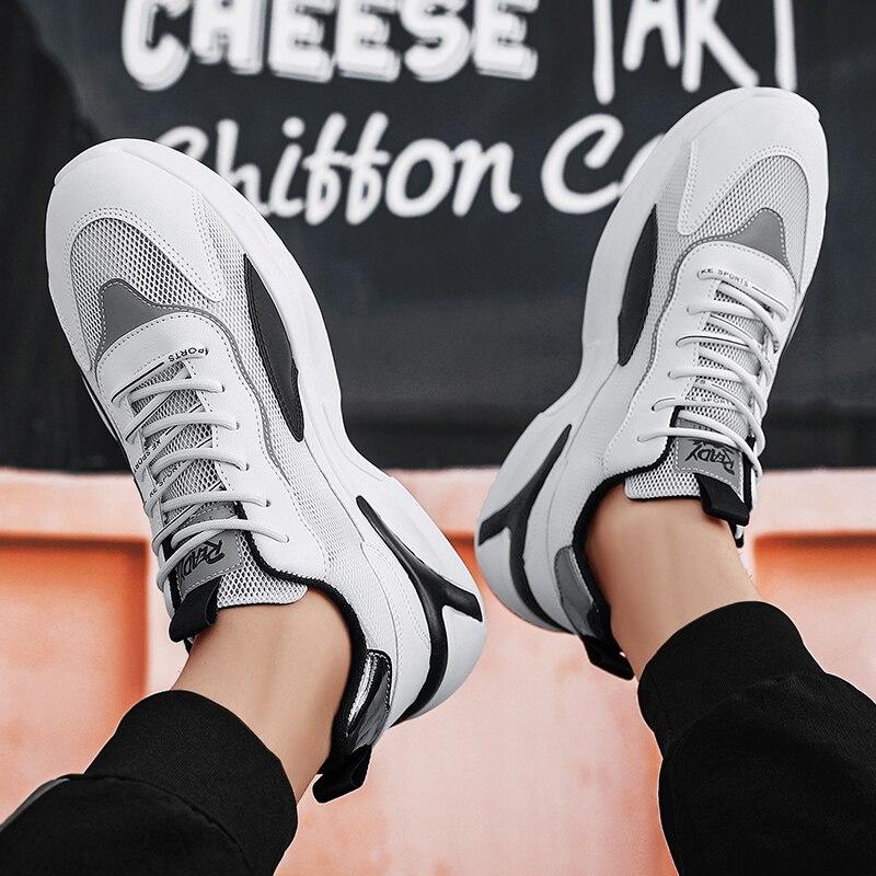 حذاء رياضة رجل حذاء كاجوال للرجال أحذية رياضية مريحة حذاء كاجوال s الرجال تنفس السببية عالية أعلى زلة خفيفة و