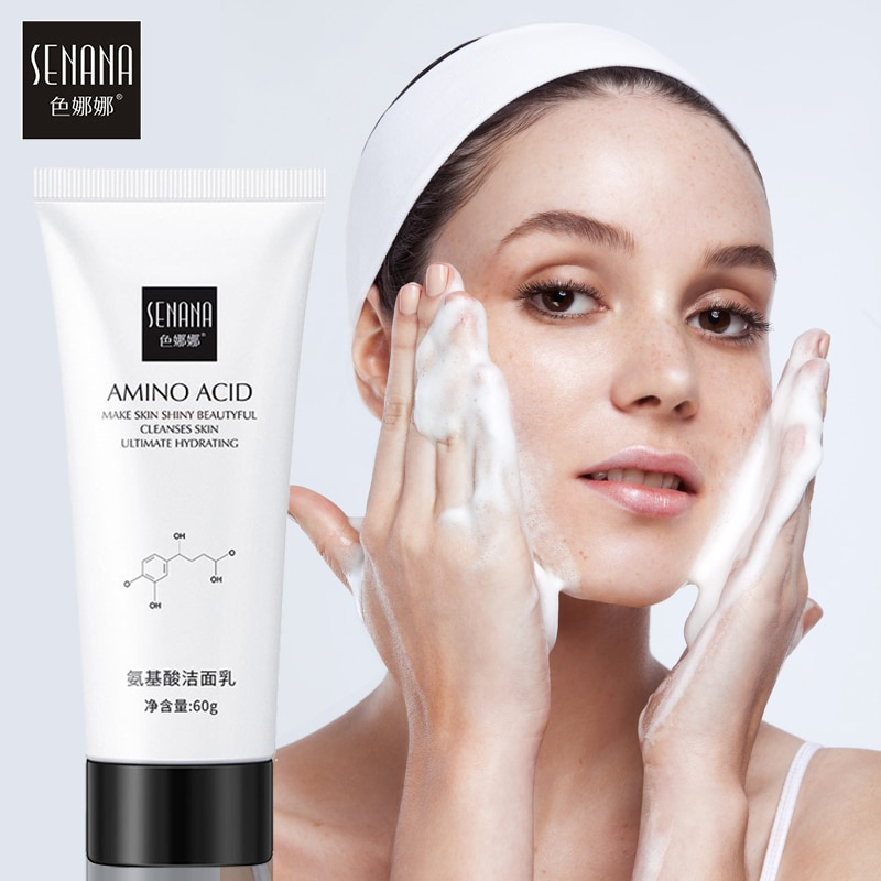 SENANA Nicotinamide Amino Acid Face Cleanser Facial Scrub Cleansing Acne Oil Control Blackhead Remov