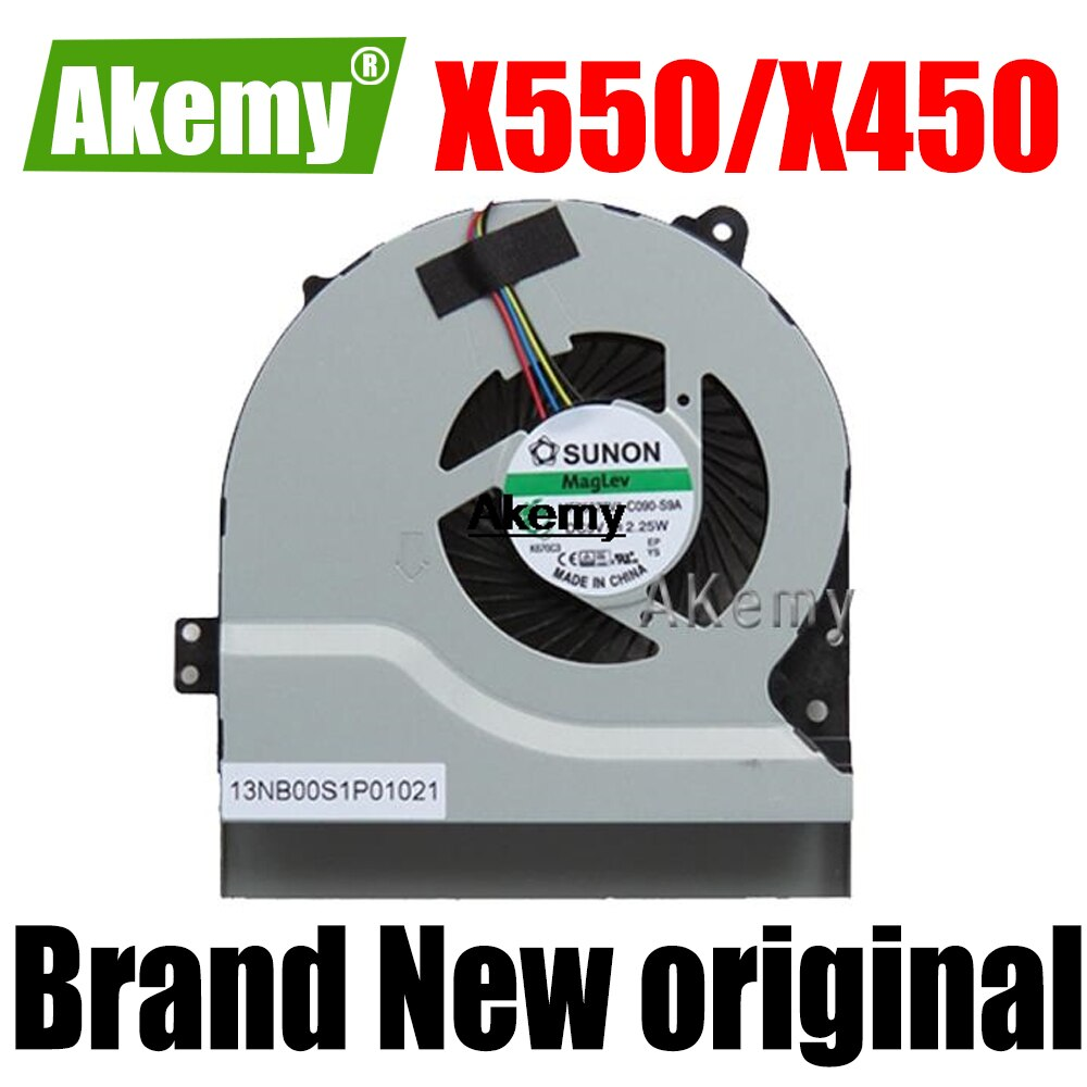 Новый охлаждающий вентилятор для процессора For For For Asus X550 X550V X550C X550VC X450 X450CA X450V X450C A450C K552V A550V MF75070V1-C090-S9A кулер