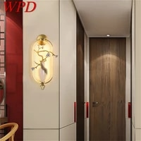 wpd led indoor wall lamps luxury brass sconces modern wall light fixture home decorative for bedroom living room office