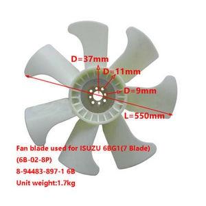 8-94483-897-1 8944838971 Fan Blade Fit for TCM Forklift With Isuzu 6BG1 Engine