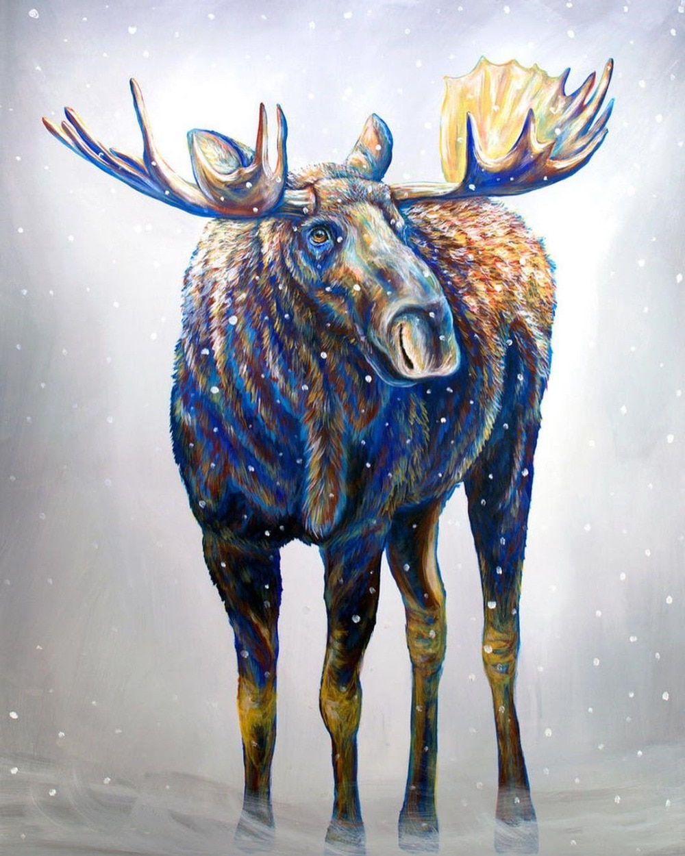 Animal Moose 5D DIY Diamond Painting Cross Stitch Christmas Full Mosaic Drill Handmade Embroidery Gift Home Room Decor Art