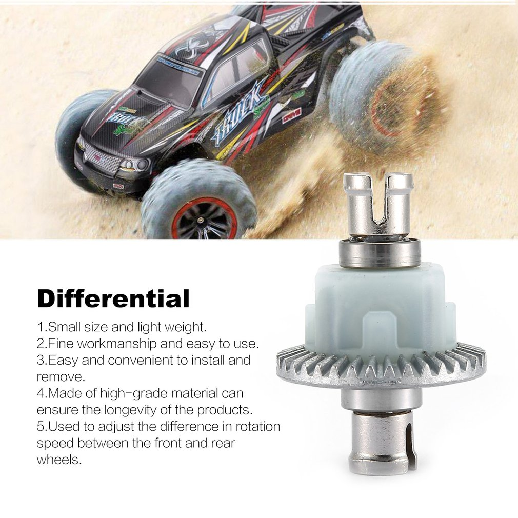 2pcs Differential Gears Gearbox Gears Bearing Spare parts Transmission Front And Rear Axle Differential For XLH 9125 RC Car enlarge