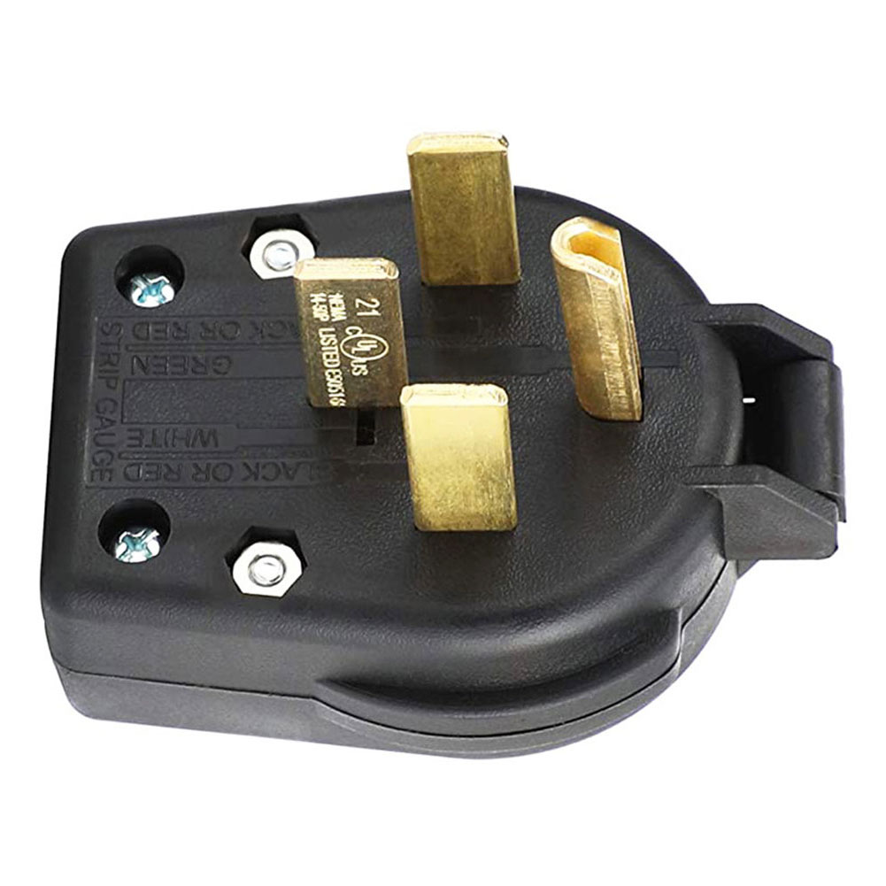 Black Power Connector Nema 14-50P 50A 250V 4Pin High Power Industrial Generator US Plug Adapter American Industry Plug Socket