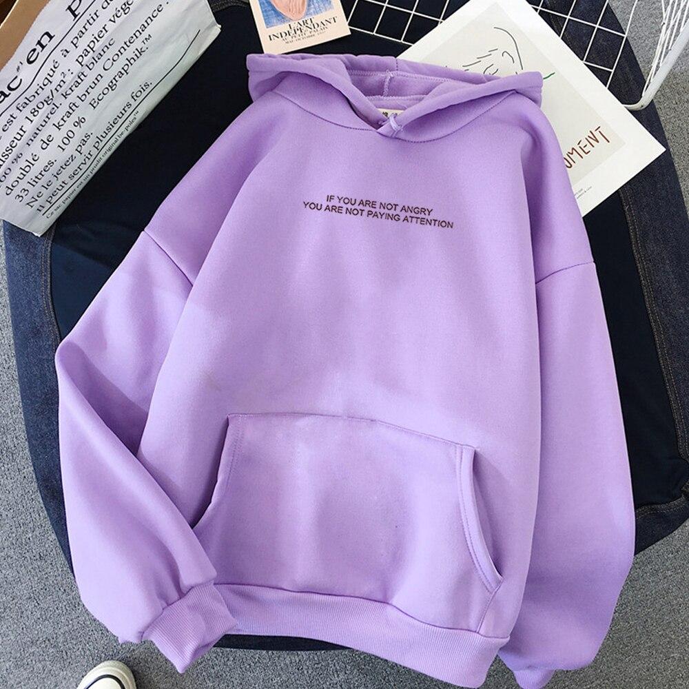 Harajuku Sweats à capuche à manches longues automne chaud femmes vêtements adolescents filles drôle lettre surdimensionné vestes à capuche femmes Sweats