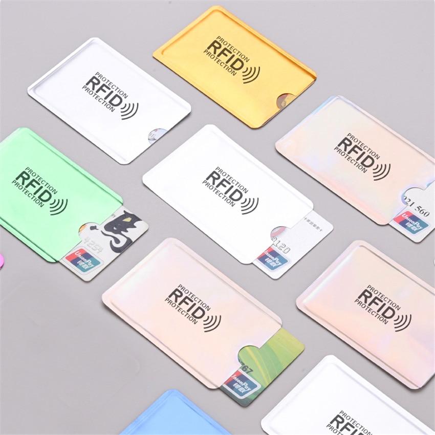 10pcs/set Anti-magnetic RFID Credit Card Sleeve Anti-theft Anti-Scan Card Sleeve Protection Card Holder Sleeve Credit Card Cover недорого