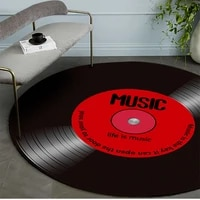 personality round vintage carpet music vinyl record design floor mat 3d carpet mat room anti slip rug chair floor mat home decor