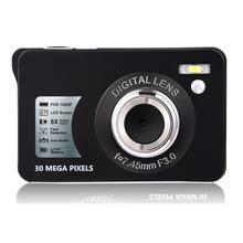 Expédition rapide! 2.7 Mini appareil Photo numérique 30MP TFT LCD affichage 8x Zoom Anti-secousse caméscope vidéo HD 1080P auto-temps caméra Photo