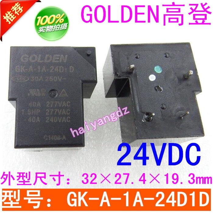 Máquina de Solda do Soldador Relé de Alta Dedicado Relé Dourado 30a 40a Potência 24vdc Gk-a-1a-24d1d
