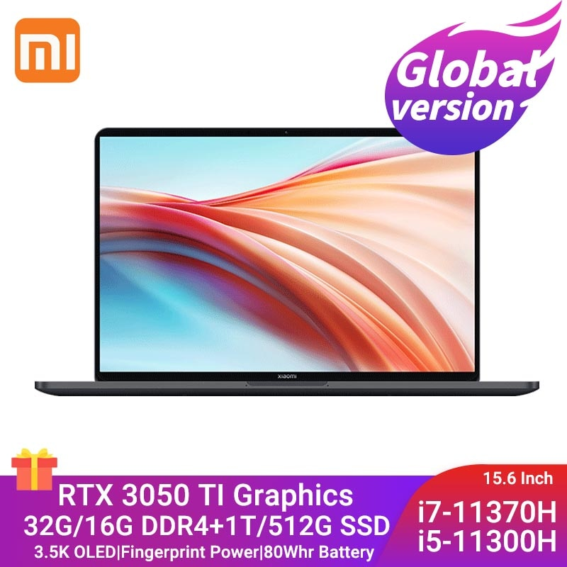 Review Xiaomi Mi Laptop Pro X 15 Intel Core i7-11370H/I5-11300H 32G/16G+1T/512G RTX 3050 Ti 15.6Inch 3.5K OLED Notebook Gaming Computer