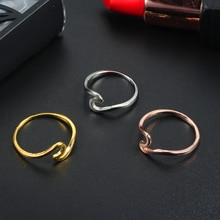 Mode Simple vague anneaux pour les femmes couleur or blanc bijoux de mariage dames cadeaux 2019 nouveaux arrivants livraison directe