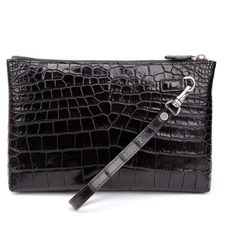 yinshang crocodile men envelope bag  new  fashion  men bags  men Hand bag  male soft leather crocodile leather men clutch bag