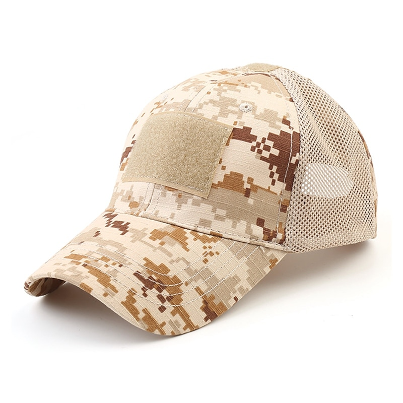 Men Baseball Caps Army Mesh Tactical Camouflage Cap Jungle Hunting Snapback Hat Bone Dad Baseball Caps