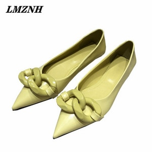 LZMNH 2021 Summer Simple Women Flat Shoes Solid Pointed Toe Shallow Brand Designer Shoes Women Fashion Wearproof Women's Shoes