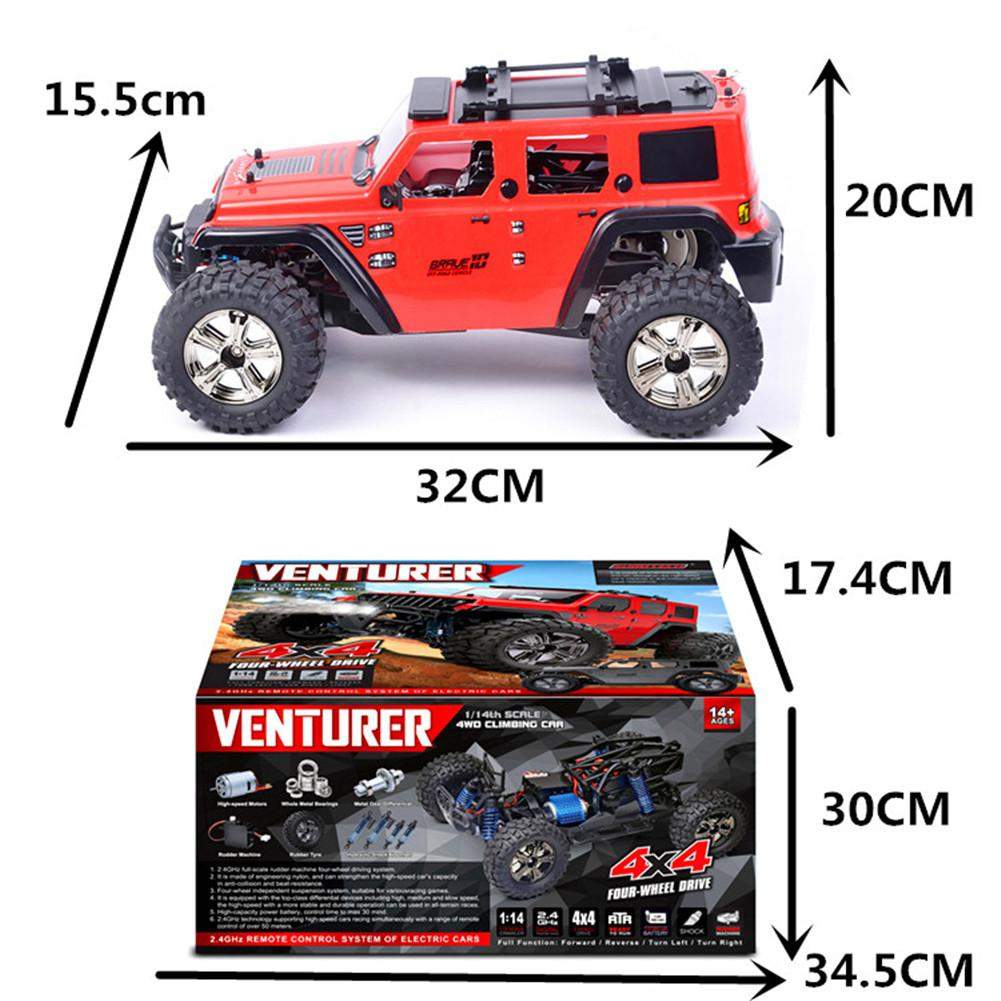 Subotech BG1521 Golory RC Car 1/14 2.4G 4WD 22km/h Proportional Control Buggy Off-road Vehicle Climbing Car RC Toys Gifts enlarge