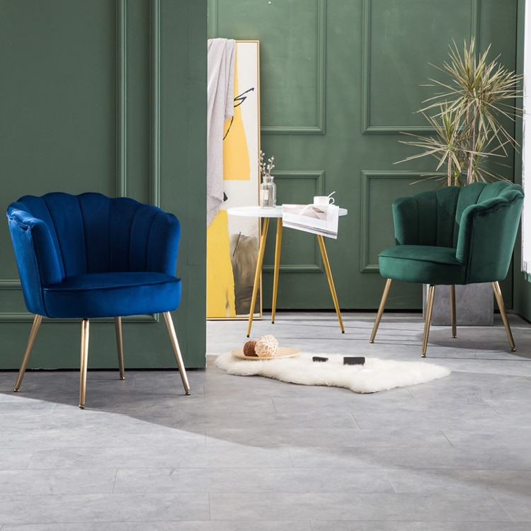madeira buttoned mid century modern dark teal fabric club chair Luxury comfortable fabric single sofa chair living room balcony bedroom furniture backrest chair simple modern lounge chair