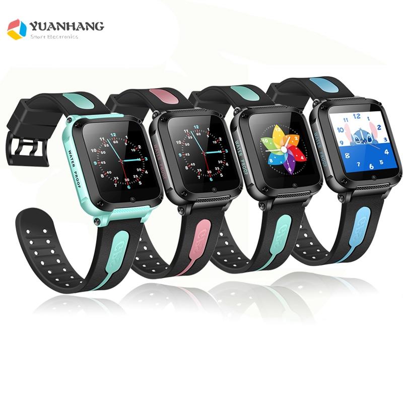 Rastreador GPS inteligente ubicación llamada de emergencia cámara de Monitor remoto TF Bluetooth reproductor de música reloj de pulsera niños estudiantes teléfono Android reloj