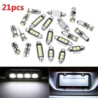 suhu 21pcs for bmw e46 sedan coupe m3 1999 2005 canbus car white interior led top front rear dome map license plate lights set