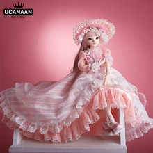 UCanaan BJD Doll 60CM 1/3 Ball Joints Dolls 12 Styles With Full Outfits Dress Wig Shoes Makeup Gift