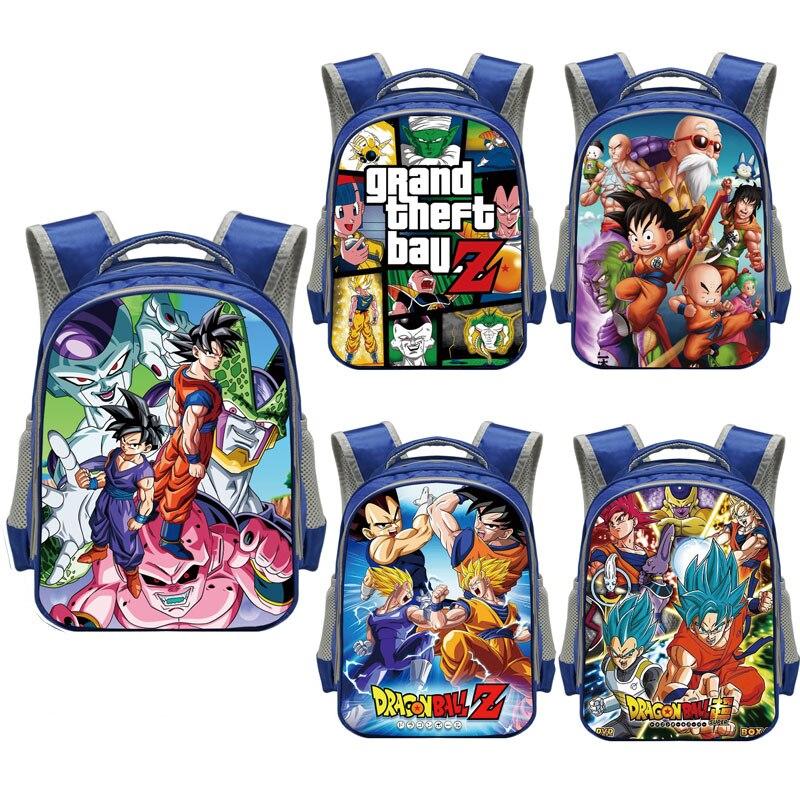 La bola del dragón del Anime de los niños de la escuela de niños de kinder mochila de dibujos animados mochila escolar de niños bolsas regalo bolsa de hombro