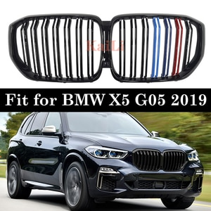 2019 For BMW X5 G05 M-Color Shiny Black Front Kidney Grille SUV M-Performance