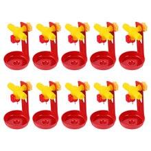 10 pièces poulet abreuvoir robinet à tournant sphérique abreuvoir Tube carré poulet abreuvoir pour ferme Yard Home Store
