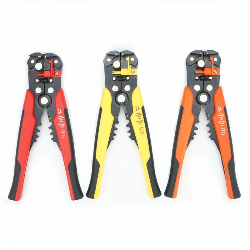Herramienta de engarzadora de cables automática Pelacables multifunción herramienta de pelado Terminal de alicates 0,2-6.0mm2