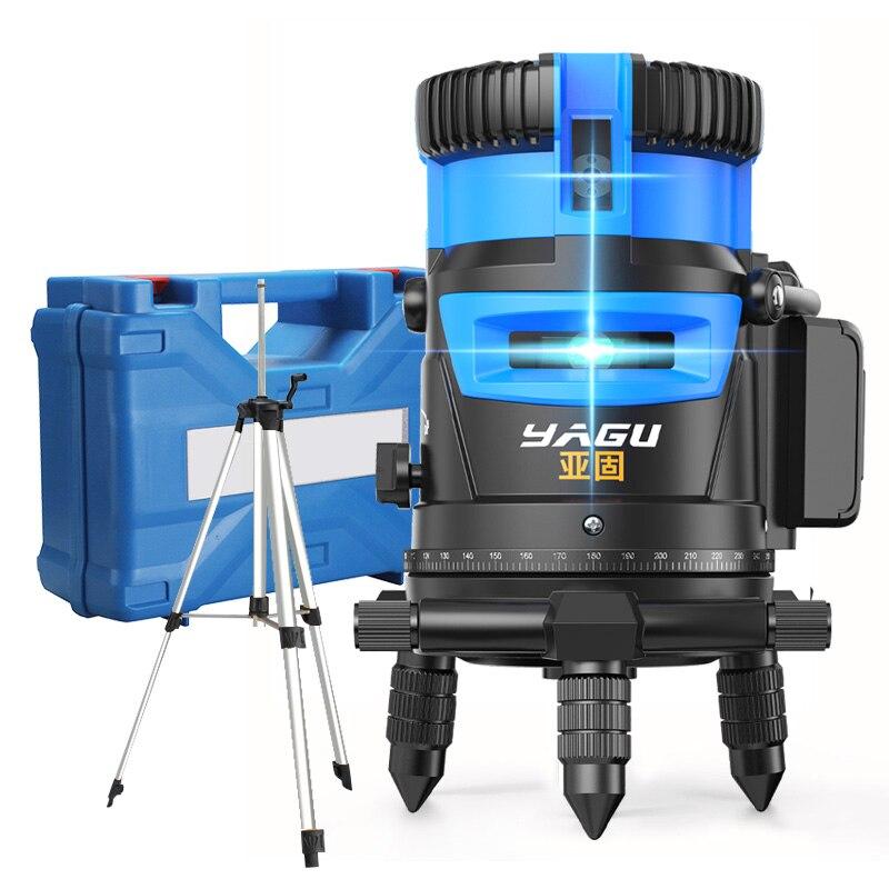 2/3/5 linhas transversais 6 pontos verde/azul laser nível auto-nivelamento vertical horizontal ajuste de 360 graus maior visibilidade