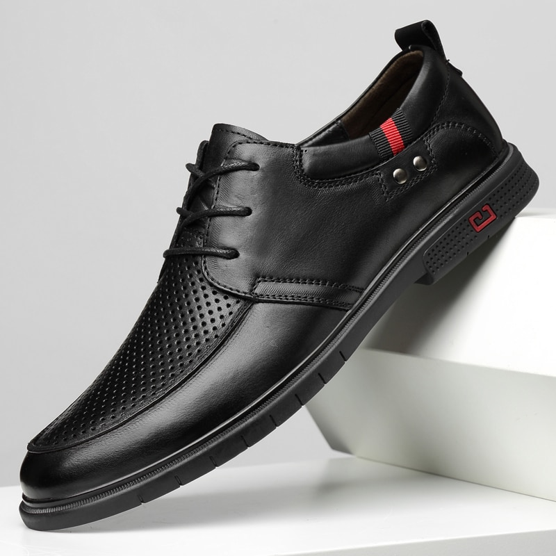 36-47 Genuine Leather Men Casual Shoes Luxury Brand 2020 Mens Loafers Moccasins Breathable Slip on B
