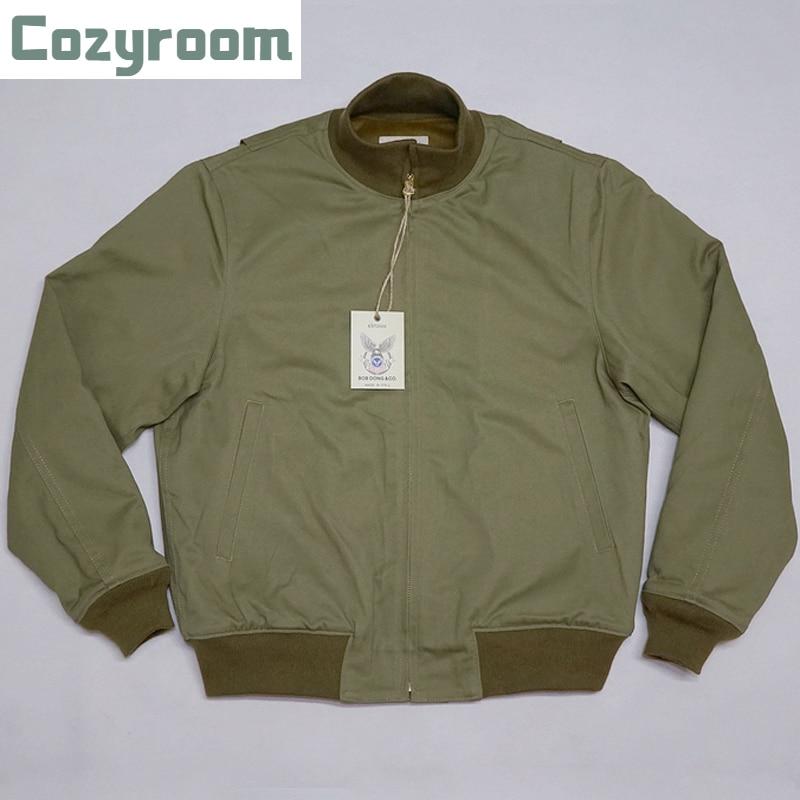 Cozyroom ريترو WW2 ناقلة سترة عادي نسخة الشتاء العسكرية زي قتال موحد