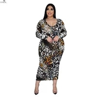 fashion leopard print midi dresses long sleeve o neck a line empire mid calf dresses spring fall casual streetwear femme outfits