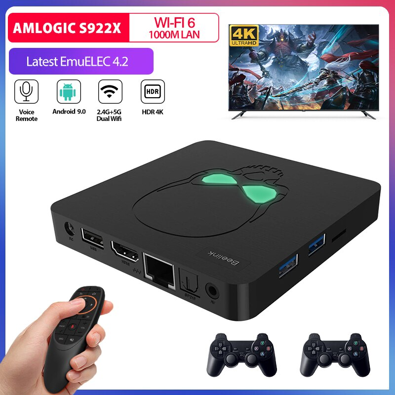 Super Console X KING Retro Video Game Console Amlogic S922X WIFI 6 For Sega Saturn/N64/MAME/PSP/PS1/DC Game Player 49000+ Games