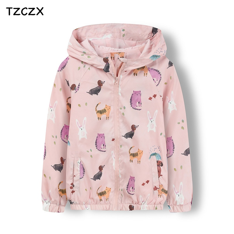 Promotion Children boy's Jackets outerwear Cartoon pattern Double layer Cotton lining thin style Girl's coats clothing
