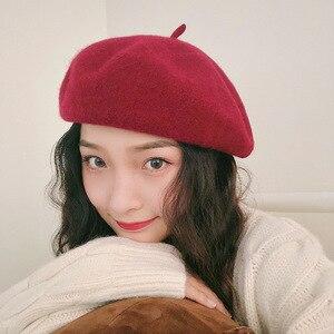 wool Beret Lady Autumn Winter Warm Hats Female Elegant French FlatPainter Caps Boina para mujer sombreros pour femme Bonnet girl