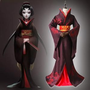 Game Identity V Cosplay Costumes Hunter The Geisha Michiko Cosplay Costume Original Skin Uniforms Clothes Kimonos Dresses Hot