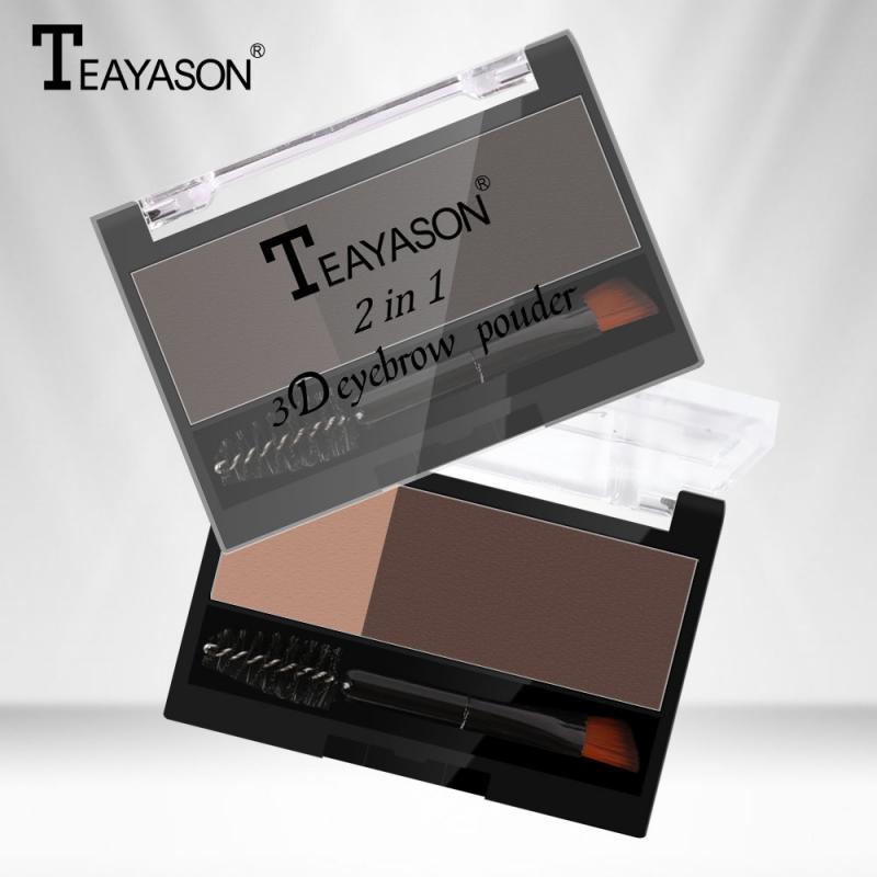 2020 Eyebrow Makeup Palette Brush Kit 2 Color Waterproof Eyeshadow Palette Eyebrow Powder Women Beau