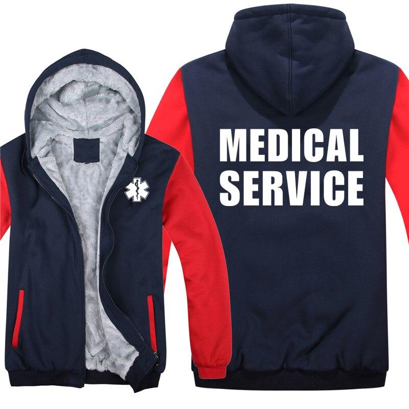 Emt paramédico emergência serviços médicos hoodies homens casaco legal engrossar emt moletom mans jaqueta com capuz