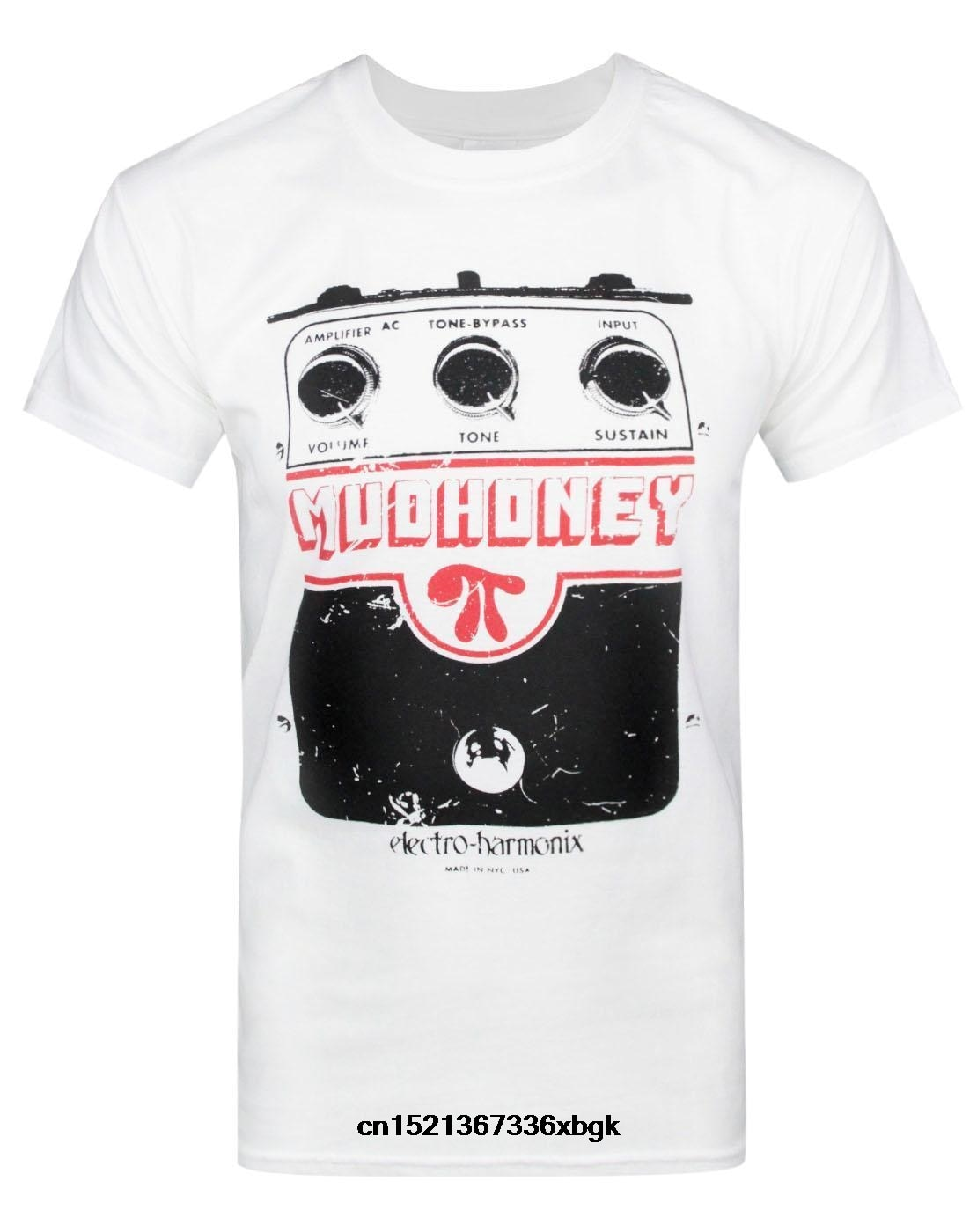 Camiseta oficial de algodón de manga corta con Electro Harmonix de Mudhoney, Envío Gratis