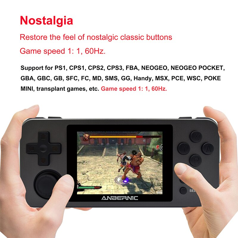 RG280M Handheld Retro Game Console 2.8 inch IPS Screen Portable Handheld Game Player Open Source System for PS1/GBA/SFC ect enlarge