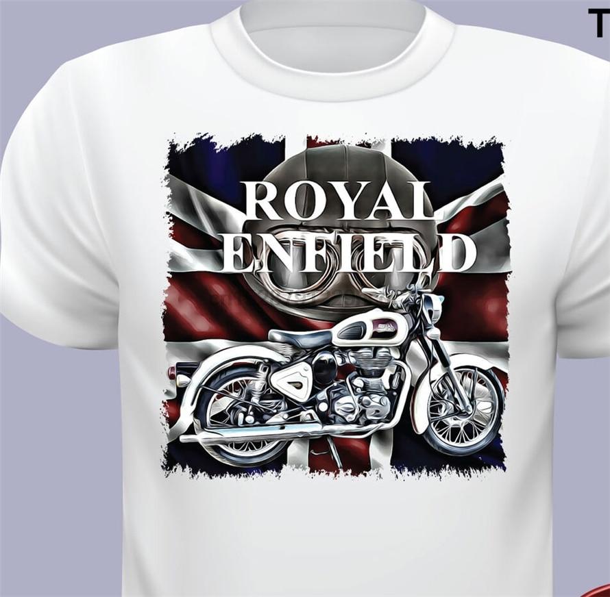 Royal Enfield T camisas hombres motocicleta real Enfield T camisa oficial R Digital impreso camiseta