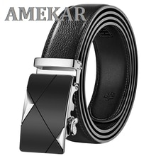 Men Belt Male Genuine Leather Strap Belts For Men Top Quality Automatic Buckle black Belts Cummerbun