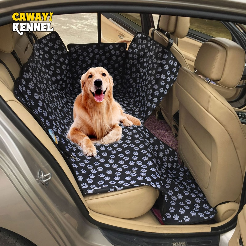 CAWAYI KENNEL Dog Carriers Waterproof Rear Back Pet Dog Car Seat Cover Mats Hammock Protector with S