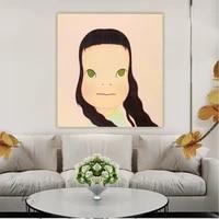 citon yoshitomo nara%e3%80%8awind%e3%80%8bcanvas art oil painting artwork poster picture background wall decor home living room decoration
