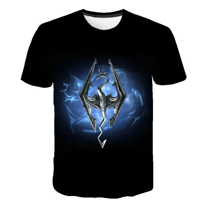The Elder Scrolls V SKYRIM 3D Print T-shirt Men Women Children Summer Casual Game T-shirt Short Sleeve Tops Skyrim Cool Shirts