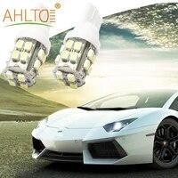 2pcs t10 car brake led w5w 194 168 20smd 1206 interior wedge light auto license plate bulb clearance lamp reading led dc 12v