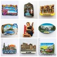 Aimants Souvenir pour refrigerateur  mosquee  Cordoba  Toledo  Gijon  autocollants magnetiques en resine 3D  decoration artisanale pour la maison  Sarajevo  espagne