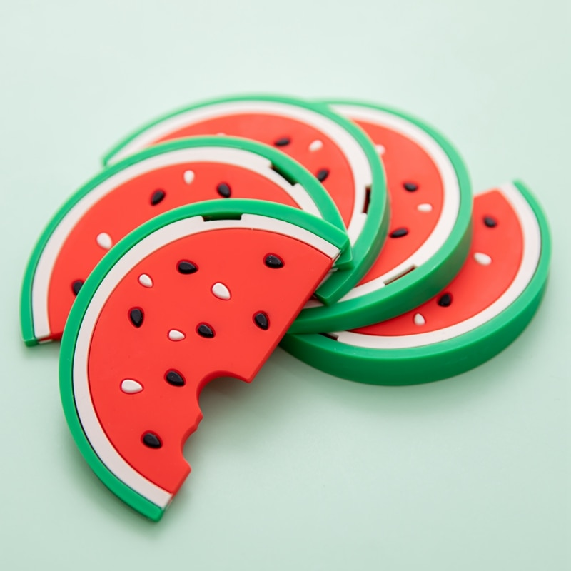 5PC Watermelon Silicone Teethers Rodent Cartoon Food Grade Silicone Pendants DIY Teething Toys For Teeth Tiny Rod Baby Toys
