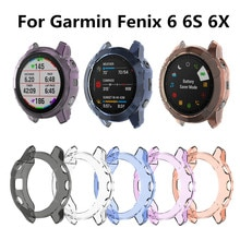 Protection Case For Garmin Fenix 6 6S 6X Smart Watch Protector Frame Soft Crystal Clear TPU Case Cov